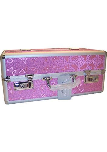 Lockable Vibrator Case Super-sized Large - Pink