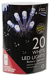 20 white led battery operated christmas lights kitchen