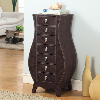 Dark Wood Jewelry Armoire front-1036481