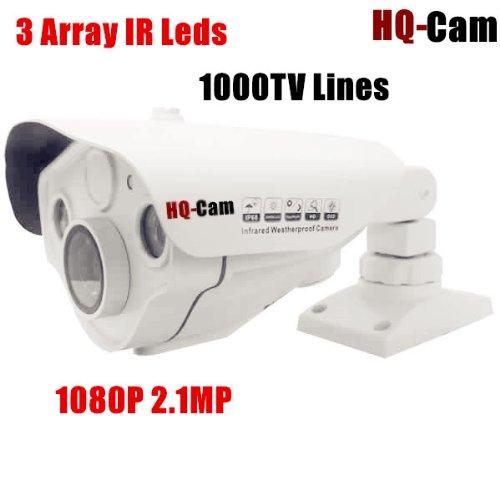 "Hq-Cam Hd-Sdi 1080P High Definition Cctv Infared Bullet Security Camera - 1/3"" Panasonic Cmos Sensor 2.1 Mp Megapixel High Resolution 1000Tv Lines Built-In 2.8-12Mm Vari-Focal Lens 3 Array Ir Leds Ir Distance:120Ft Foot Ip66 Weatherproof Outdoor Night Vis"