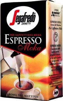 Segafredo Espresso Moka Ground Coffee 8.8Oz/250G X 4