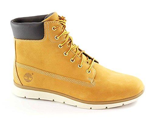 TIMBERLAND A17M9 wheat yellow giallo scarpe donna scarponcini pelle waterproof 37