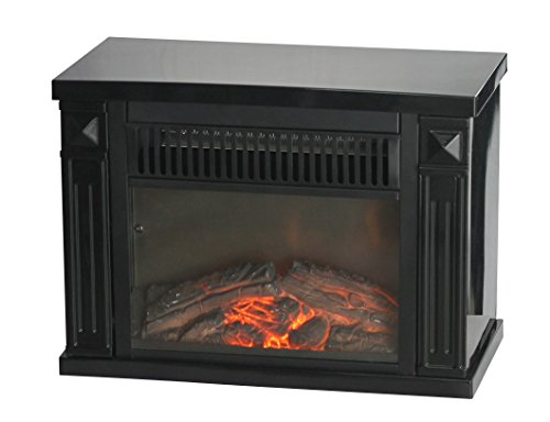 Big Save! Comfort Glow EMF161 1200-watt Hearth Portable Fireplace, Mini, Midnight Black