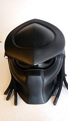 SY06 Custom Predator Motorcycle Dot Helmet Matt Black (Honda Repsol Jacket compare prices)