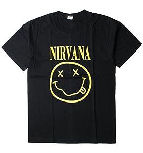 ロックTシャツ Nirvana ニルヴァーナ イエロー ニコちゃん Smiley Face