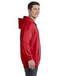 J&Z Men\'s Pullover Eco Cotton Hoodie Sweatsh Red X-Large