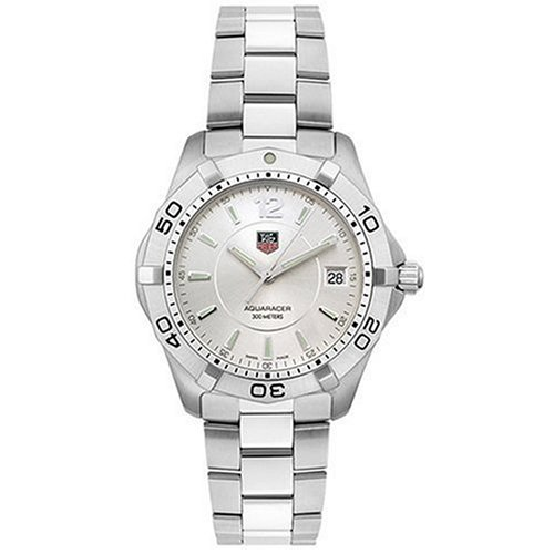 Discount for tag heuer men 39 s waf1112 ba0801 silver aquaracer watch compare price for Tag heuer discount