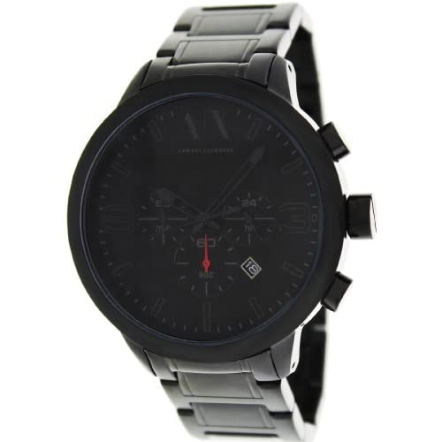 Armani Exchange Men's AX1277 Black Stainless-Steel Quartz Watch with Black Dial