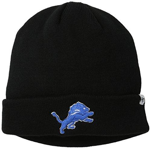 NFL Detroit Lions '47 Raised Cuff Knit Hat, Black, One Size (47 Emblem compare prices)