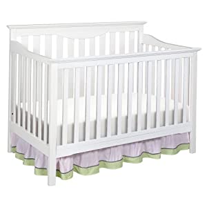 Delta Children's Products Harlow 4-in-1 Fixed Side Convertible Crib, White
