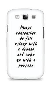 AMEZ always remember to fall asleep with a dream Back Cover For Samsung Galaxy S3 Neo