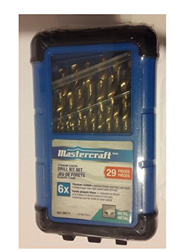 Mastercraft Titanium Coated Drill Bit Set ,29 Pieces (Mastercraft Drill compare prices)