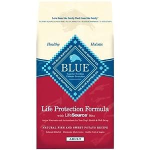 Blue Buffalo Dry Dog Food, Fish and Sweet Potato Recipe, 30-Pound Bag
