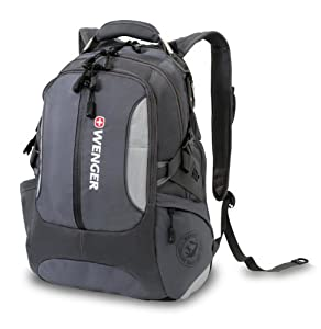 Wenger Laptop Computer Backpack by SwissGear SA1537 (Grey) Fits Most 15 Inch Laptops