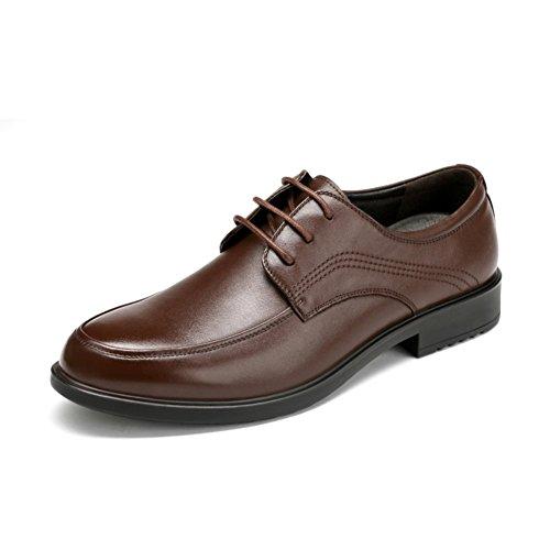 scarpe da uomo in pelle/business casual classico e confortevole pizzo scarpe di cuoio da uomo-B Lunghezza piede=26.8CM(10.6Inch)