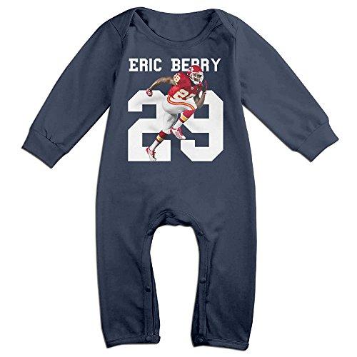 HOHOE Newborn Babys #29 Player Kansas City Chiefs Long Sleeve Jumpsuit Outfits Navy 18 Months