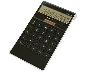 M-abacus 10386 Black anzeig. Design-Tischrechner Hochglanz, 10-st. Punktmatrix-Display, S/B, OFF