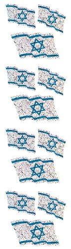 Jillson Roberts Prismatic Stickers, Judaic, Israeli Flags, 12-Sheet Count (S7529)
