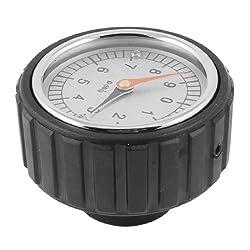 Black 0-9 Arabic Number Gauge Round Design Hand Wheel for Machine