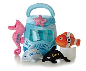 "Aurora Plush Baby 6"" My Aquarium Carrier with Sound"