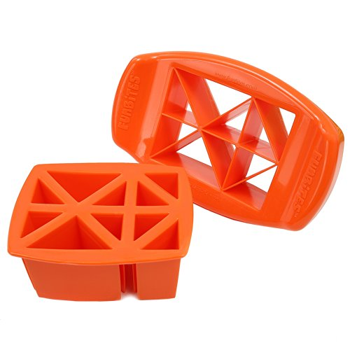 FunBites Food Cutter, Orange Triangles - 1