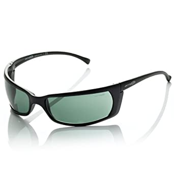 Buy Arnette Men AN4007 SLIDE Black Green Sunglasses 66mm by Arnette