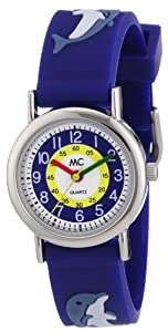 MC Timetrend Jungen-Armbanduhr Delphin Lernuhr Quarz Kunststoff 50105