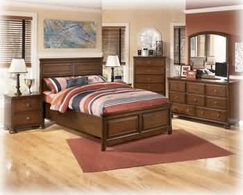 Best ashley furniture for sale ashley portsquire full size bookcase bedroom set with storage for Full bedroom furniture sets sale