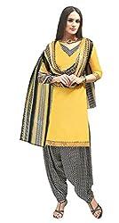 Pari Presents Yellow Coloured Printed Dress Material