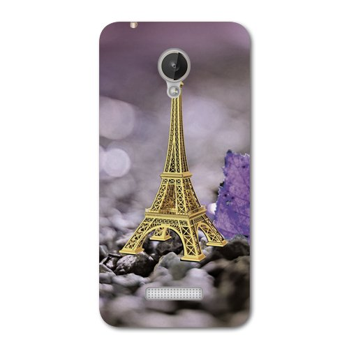 Kaira brand Designer Back Case Cover for Micromax Canvas Spark Q380 (Eiffel Tower)