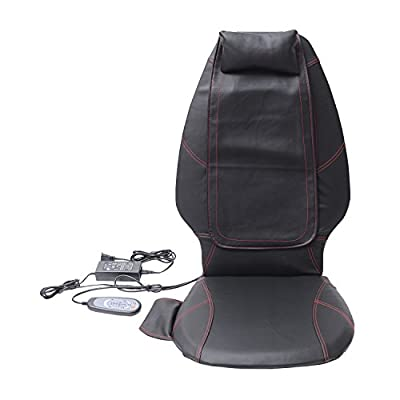 HomCom Multi-function Shiatsu Massage Seat Cushion - Black