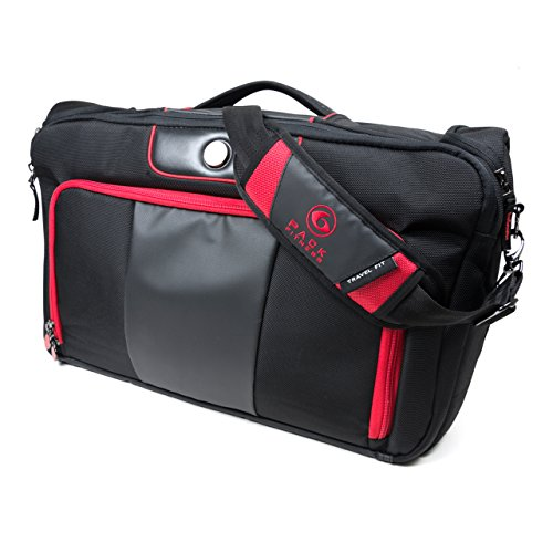 6 Pack Fitness Executive Briefcase With Insulated Meal Management System, Black/Red, (500-5 Meals)