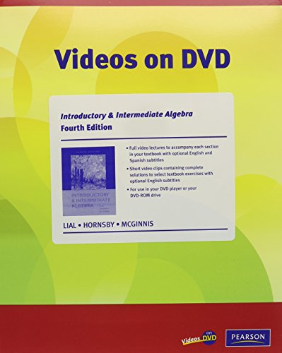 Videos on DVD for Introductory and Intermediate Algebra