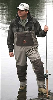 Caddis Men's Grey and Brown Northern Guide Breathable Stocking Foot Wader
