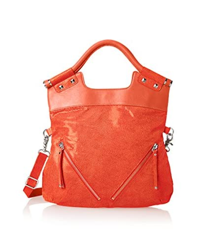 Chez by Cheryl Women's Jemma Foldover Cross-Body Satchel, Orange