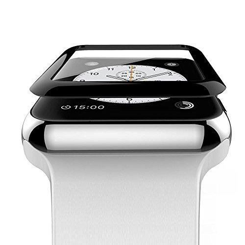AIBULO® Vetro temperato 3D Ultra-sottile 0.3MM copertura perfetta vestibilità schermo protettivo completo Ultra Clear per Apple Watch Series 2/Series 1/Nike+ (per iwatch 42mm)