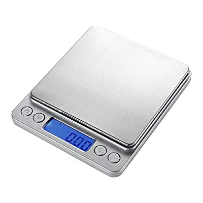 WAOAW 500g/0.01g Digital Stainless Kitchen food Scale, 0.001oz Resolution