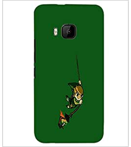 PrintDhaba cartoon D-2455 Back Case Cover for HTC ONE M9 (Multi-Coloured)