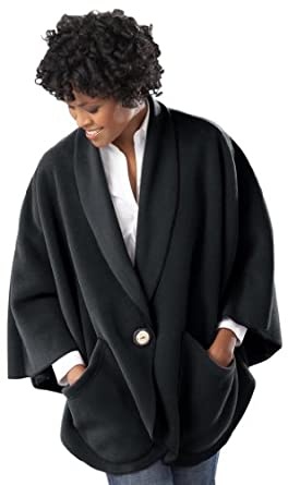 Janska Ladies Fleece Pocket Cape With Button by Janska