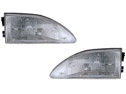 Ford Mustang Headlights With Out Cobra Model Headlamps Driver/Passenger Pair New (Mustang Cobra Headlights compare prices)