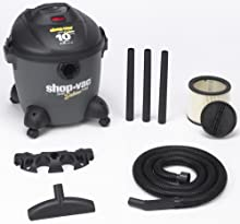 Shop-Vac 5861000 10-Gallon 4 0-HP Quiet Deluxe Series Wet Dry Vacuum