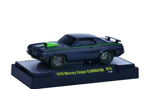 mercury-cougar-eliminator-dunkelgrau-hellgrun-1970-modellauto-fertigmodell-m2-machines-164