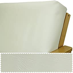 Faux Leather Vanilla Futon Cover Queen 193
