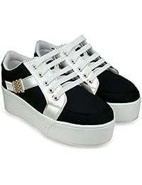 Beonza Women Black Sneakers Casual Shoes