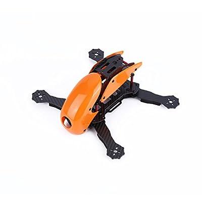YKS Robotcat DIY Full Carbon Fiber Mini 270 Quadcopter Frame Kit with Hood Cover for FPV Racing Quadcopter Parts (Orange)
