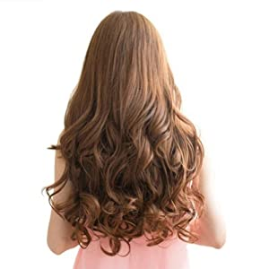 Wavy Brown Hair Back View