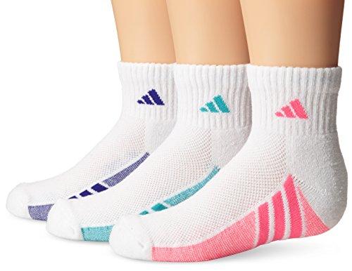 adidas Girls Cushion Quarter Socks (Pack of 3) adidas yoga socks