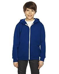 American Apparel Youth Flex Fleece Zip Hoodie - Lapis / 8 Years