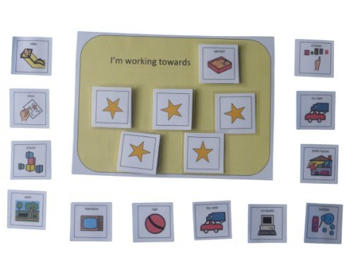 Autism Supplies And Developments Picture Exchange Communication System Reward Chart 5 Star