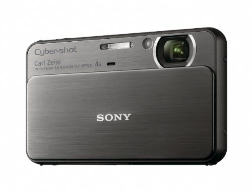 Sony DSC-T99B Digitalkamera (14 Megapixel, 4-fach opt. Zoom, 7,5 cm (3 Zoll) Display, HD Video) schwarz